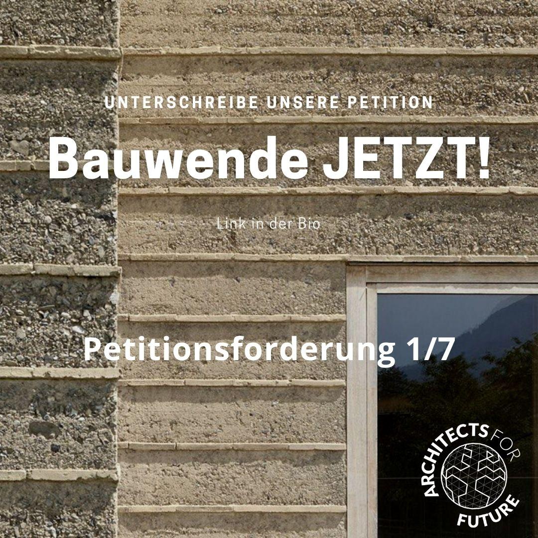 Bauwende jetzt – Anhörung zur Petition im Bundestag